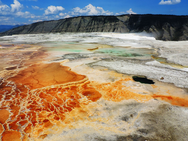 Mammoth Hot Springs, Yellowstone National Park, USA