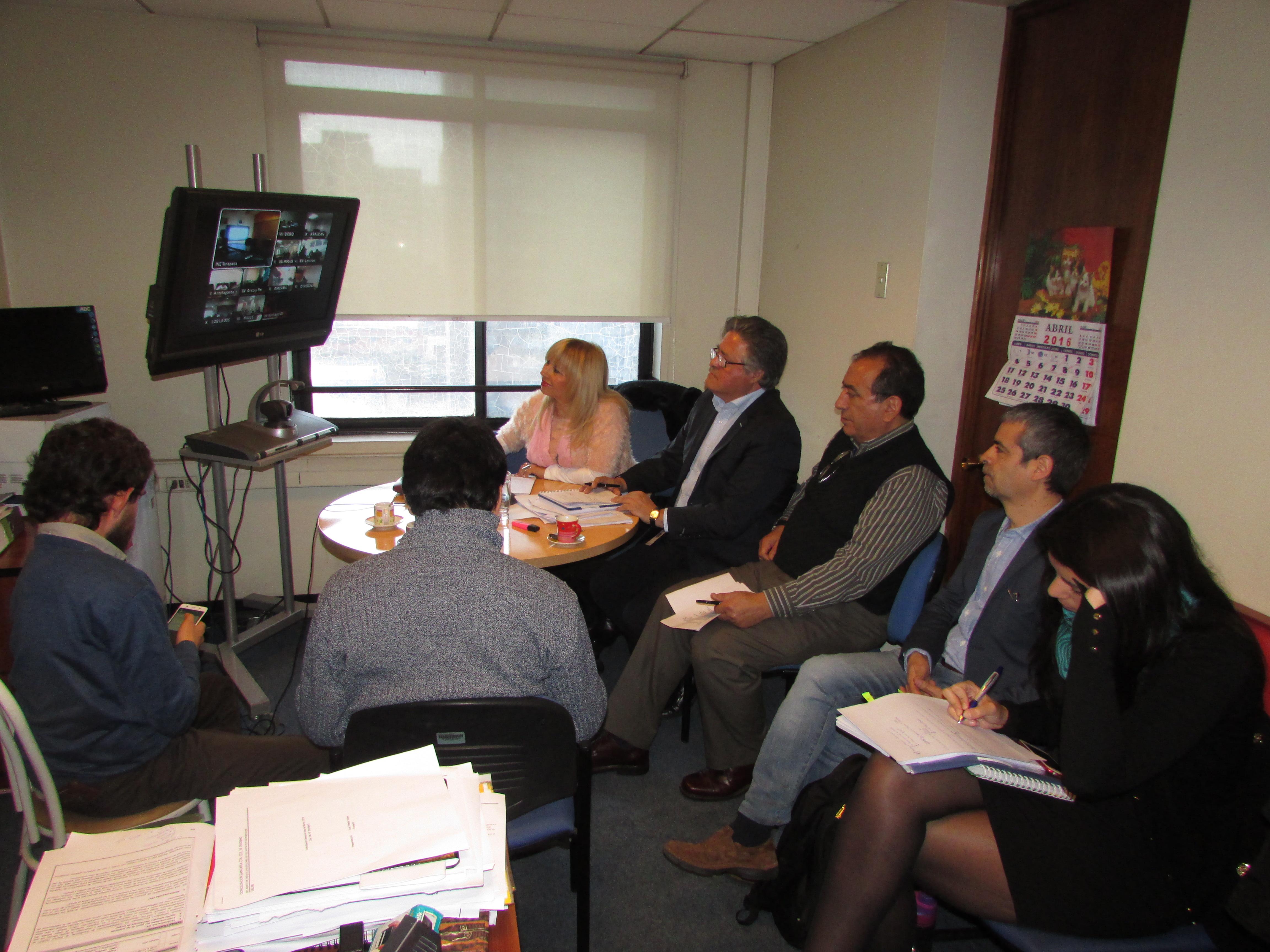 Anfine realiza Videoconferencia con dirigentes Regionales del país por Proyecto Ley INE - 26 Abril 2016