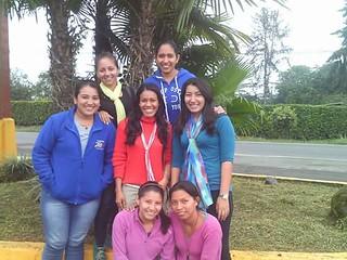 María Augusta durante una peregrinación con chicas del HMJ