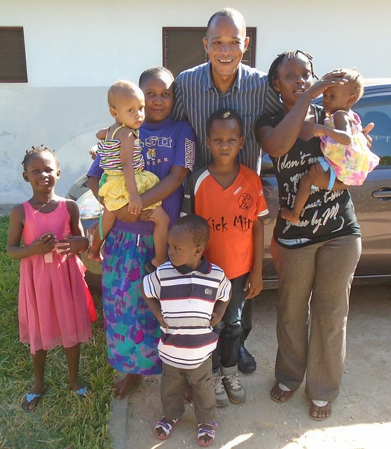 Aunt Priscillar, William &  madam Lina with the kids