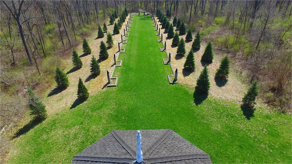 fu dog garden over the tower of the - Fu Garden