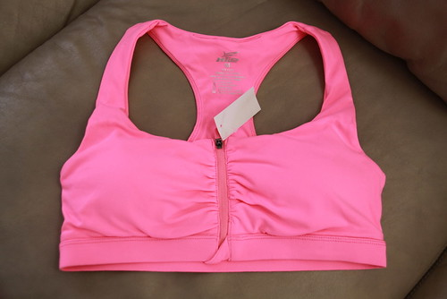womens front zip sports bra pink (3) | by Everyday Snapshot