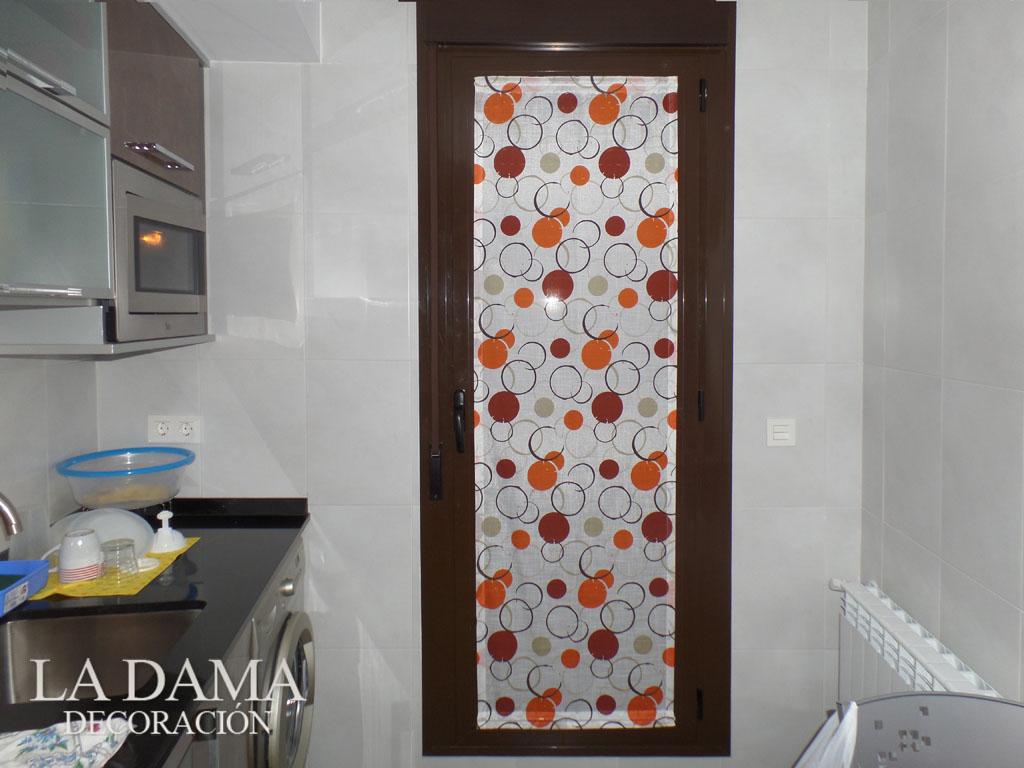Visillo para puerta cocina | Fotografía de Cortinas instalad… | Flickr