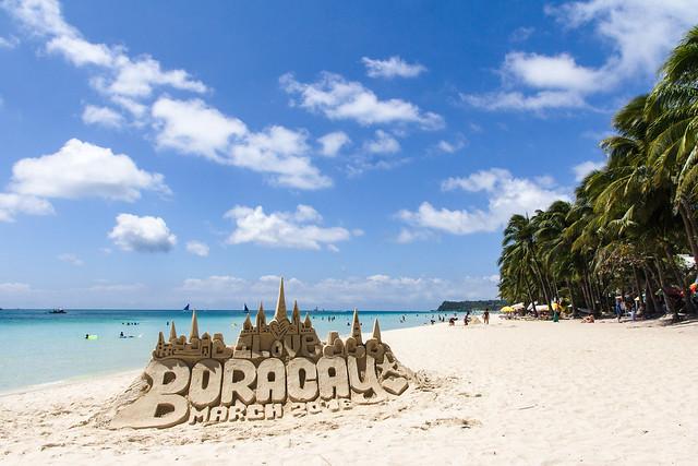White sand beach, Boracay Island, Philippines