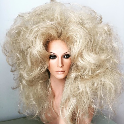 Tinted Crazy Wild Blonde Drag Queen Wig Smallbusin