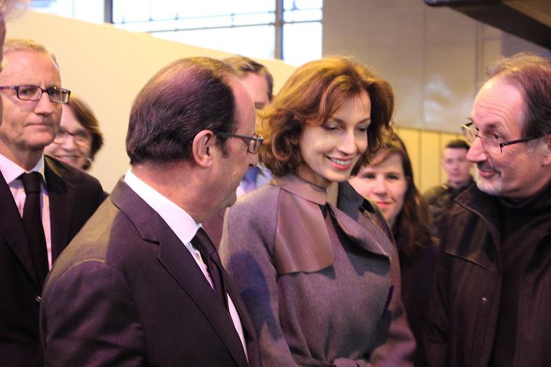 François Hollande et Audrey Azoulay à Livre Paris