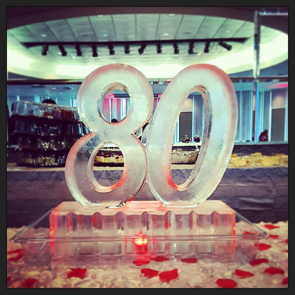 Happy 80th Birthday Icesculpture For A Lovely Lady Ful Flickr