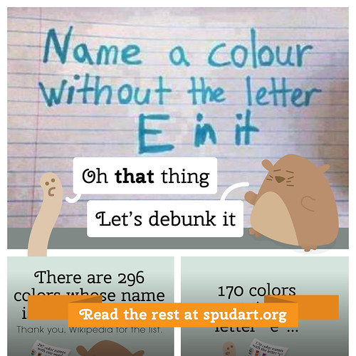 Name Of Colors Without The Letter E