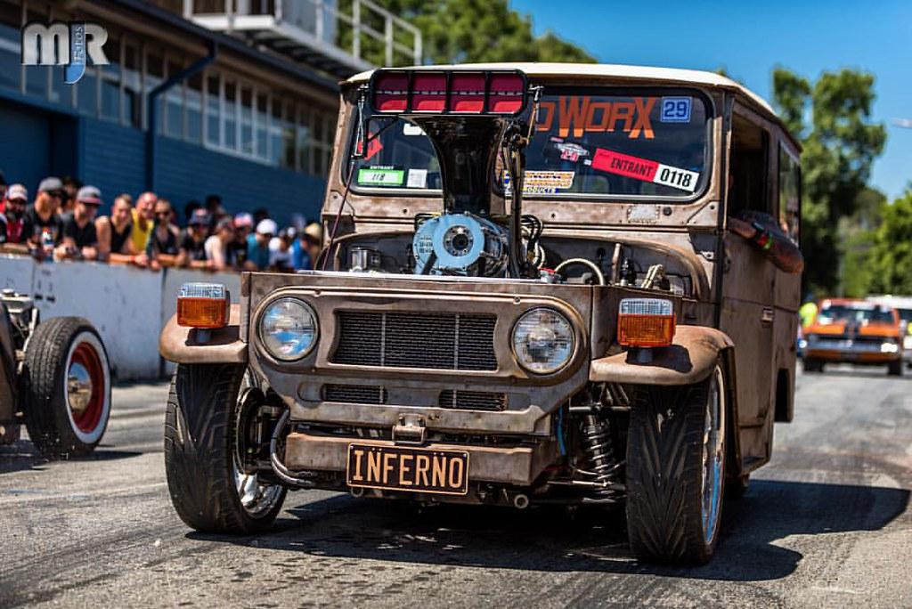 Blown Slammed Jeep Cruising Tuffst Summernats Summernats29