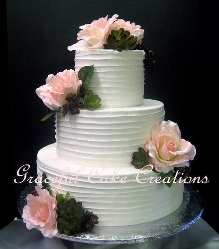 Textured White Wedding Cakes