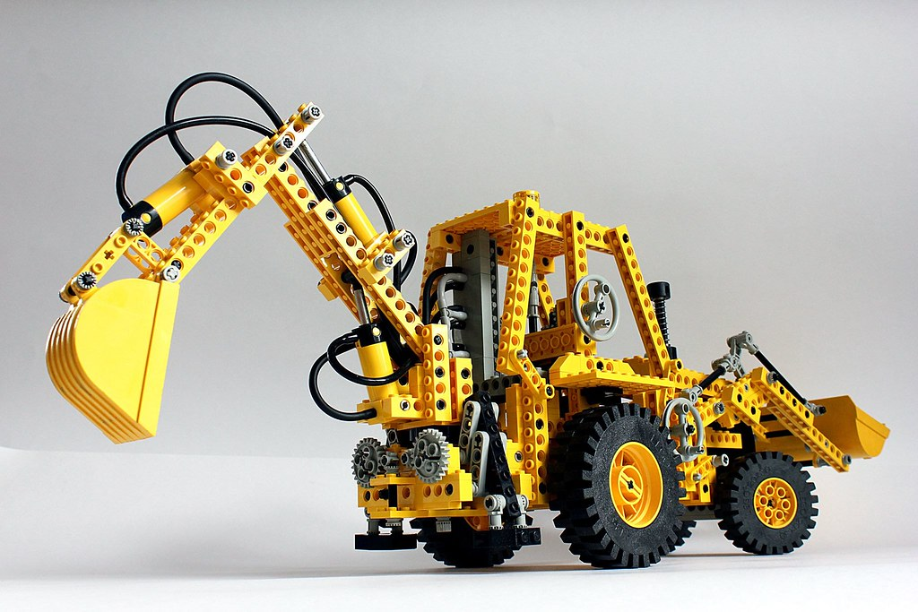 lego technic 8862 backhoe grader den vut flickr