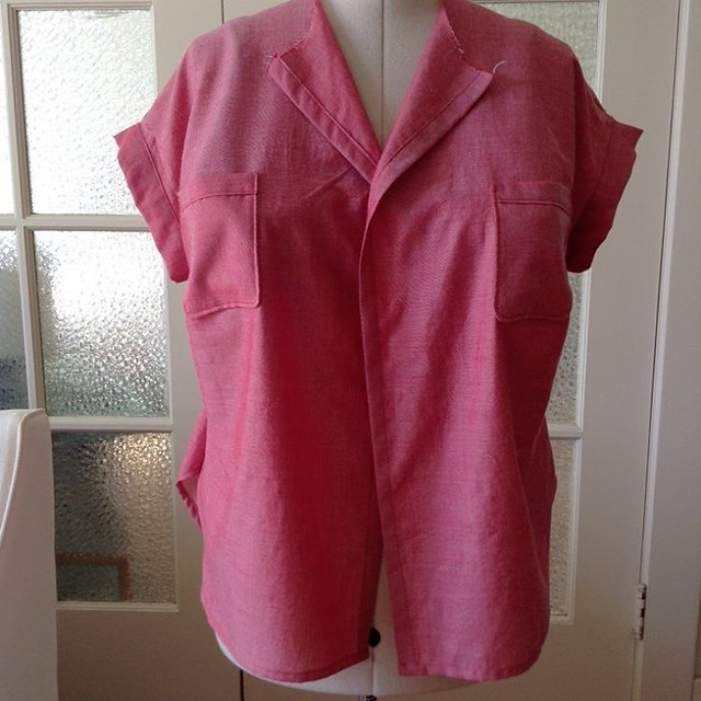 Melilot in progress #deeranddoeaddict #deeranddoe  #robertkaufmanrosechambray #sewing