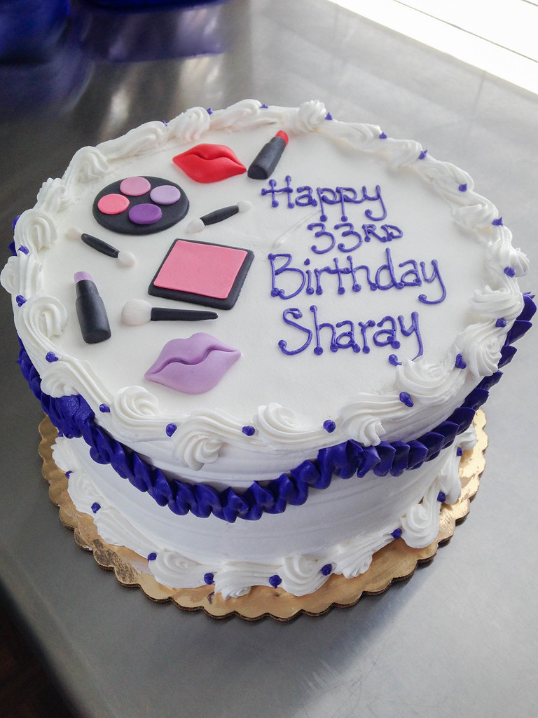 Makeup Birthday Cake Grace Ful Cakes Flickr