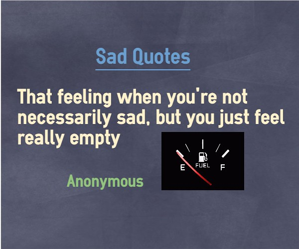 Feeling lonely and empty