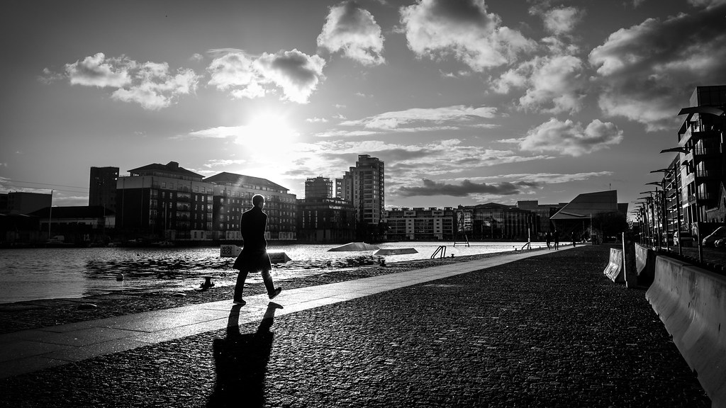 The step dublin ireland black and white street photography by giuseppe milo