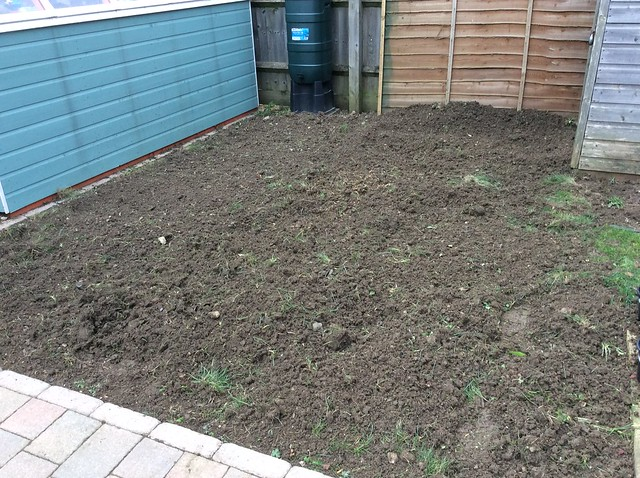 Making a start on the second half of the garden
