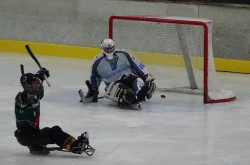 German Sledge Hockey League in Wiehl: SpG Kamen/ Wiehl 1:4 SpG Preußen/ Sachsen