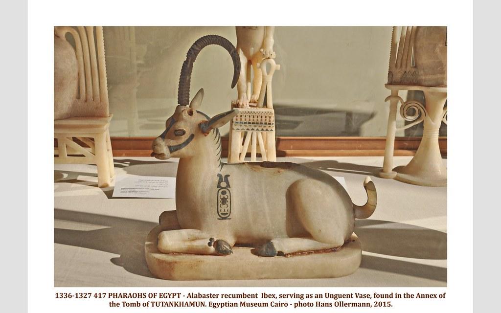 1336 1327 417 Pharaohs Of Egypt Alabaster Recumbent Ibex Flickr