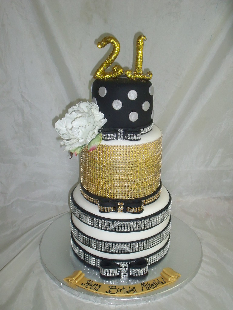 21st Bling Birthday Cake Creativecakesbykeekee Flickr