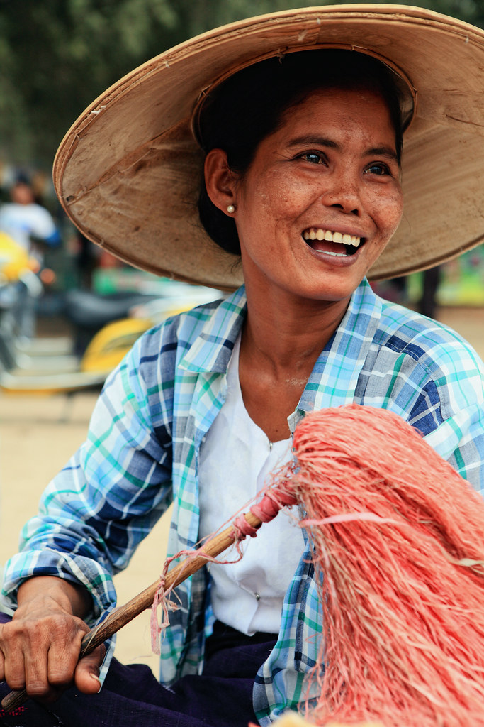 A Burmese Lady Having A Good Laugh