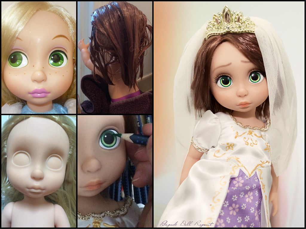 Rapunzel Animator Disney Doll Wedding Ooak Repaint Tangled Ever After Limited Edition Le Mariage De Raiponce