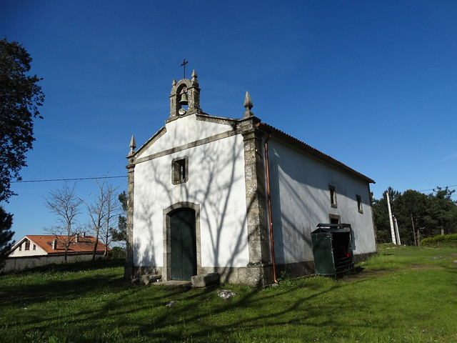 Capilla de As Pardiñas en Miñortos en Porto do Son