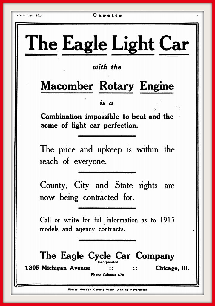 1914 The Macomber Rotary Five Cylinder Engine in the Eagle… | Flickr
