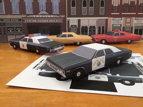 Papercraft 1972 Dodge Polara Highway Patrol Paper Car E Z ...