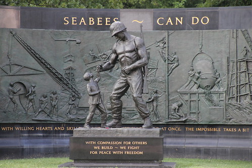 National Seabee Memorial at Arlington National Cemetery (Arlington, Virginia) - August 1, 2015