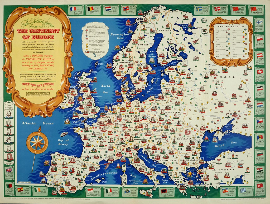 Map of Europe, 1946 | Description: \'The National Savings Pic… | Flickr
