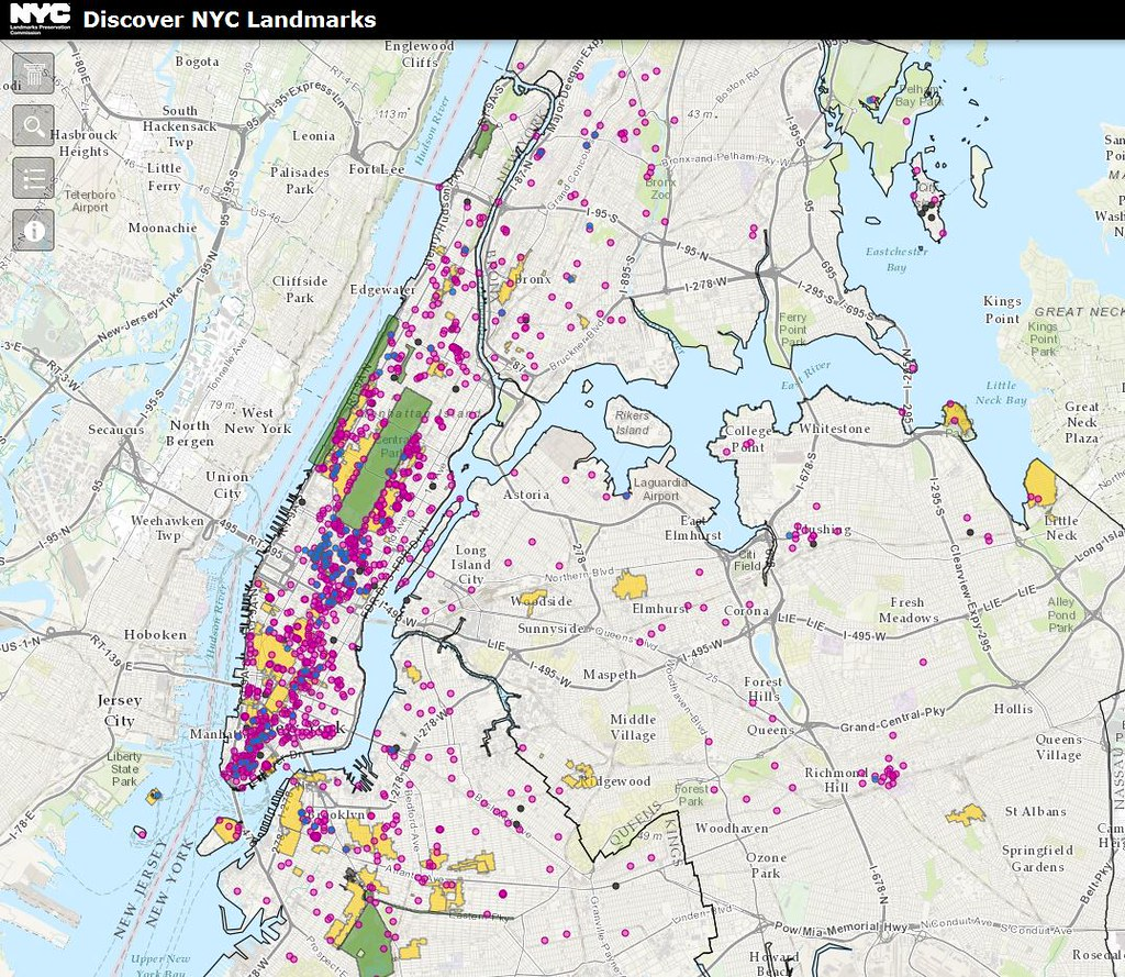 Mapping The History Of New York Citys Landmarks An Intere Flickr - Nyc map landmarks
