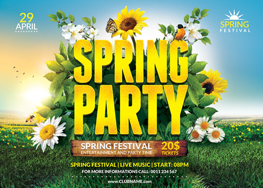 SpringPartyFlyerTemplate  You Can Download The Psd File   Flickr