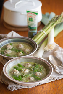 Spring Chicken Meatball Soup | by Isabelle @ Crumb