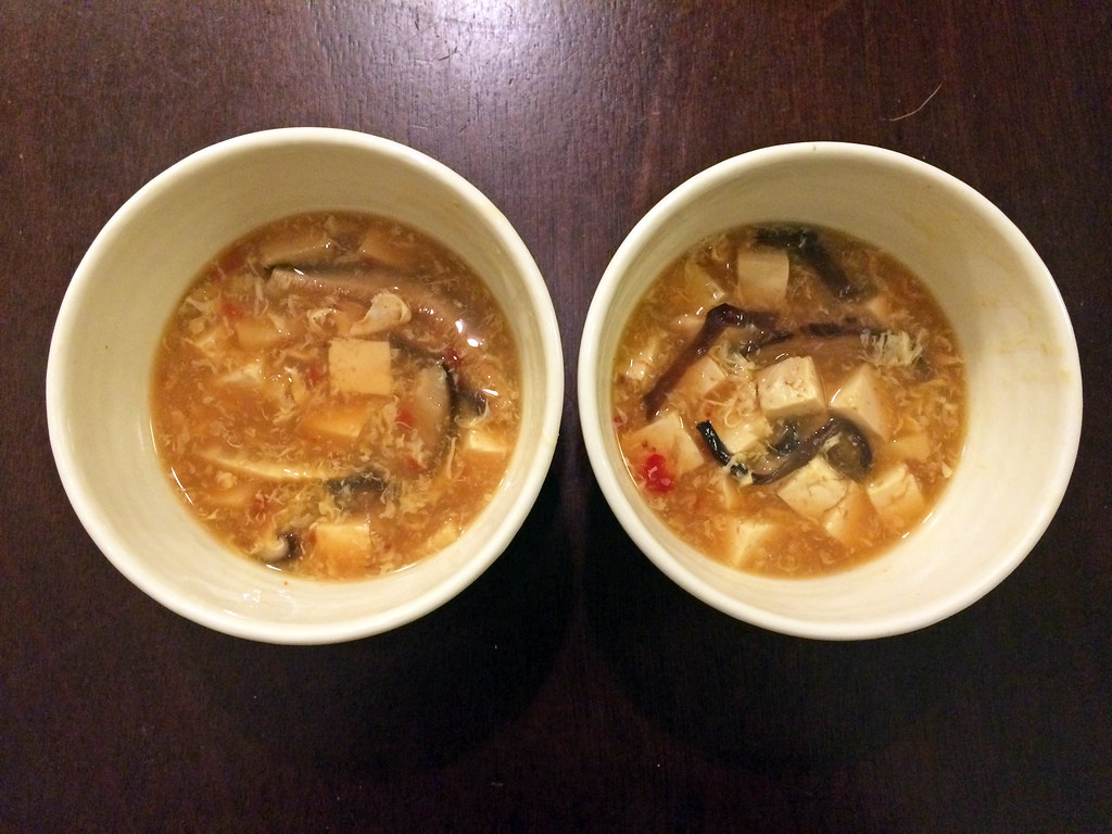Hot and sour soup with lemongrass