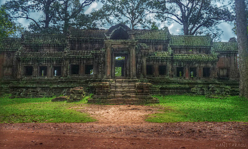 Outside Angkor Wat