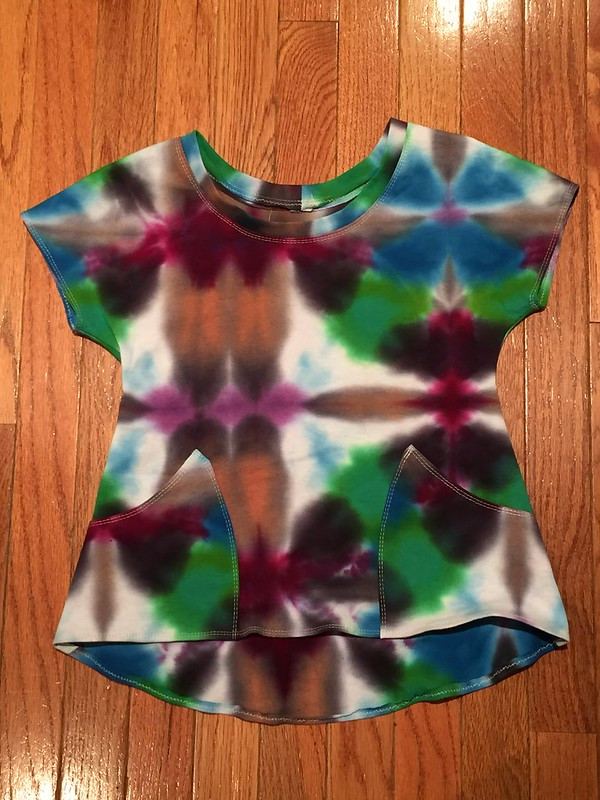 tie dye lemon drop tunic - kids