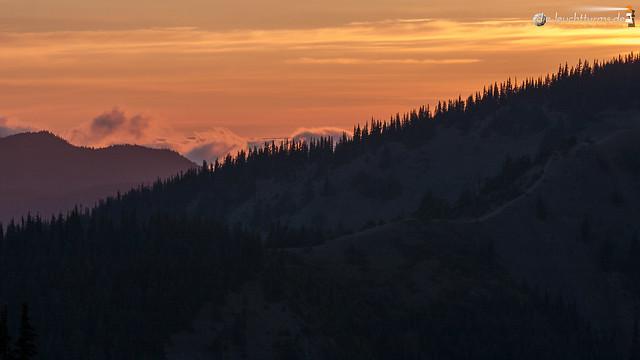 Hurricane Ridge after sunset
