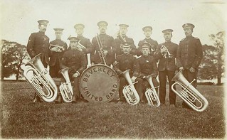 Beverley United Band on Westwood 1910 (archive ref PO-1-14-164) | by East Riding Archives