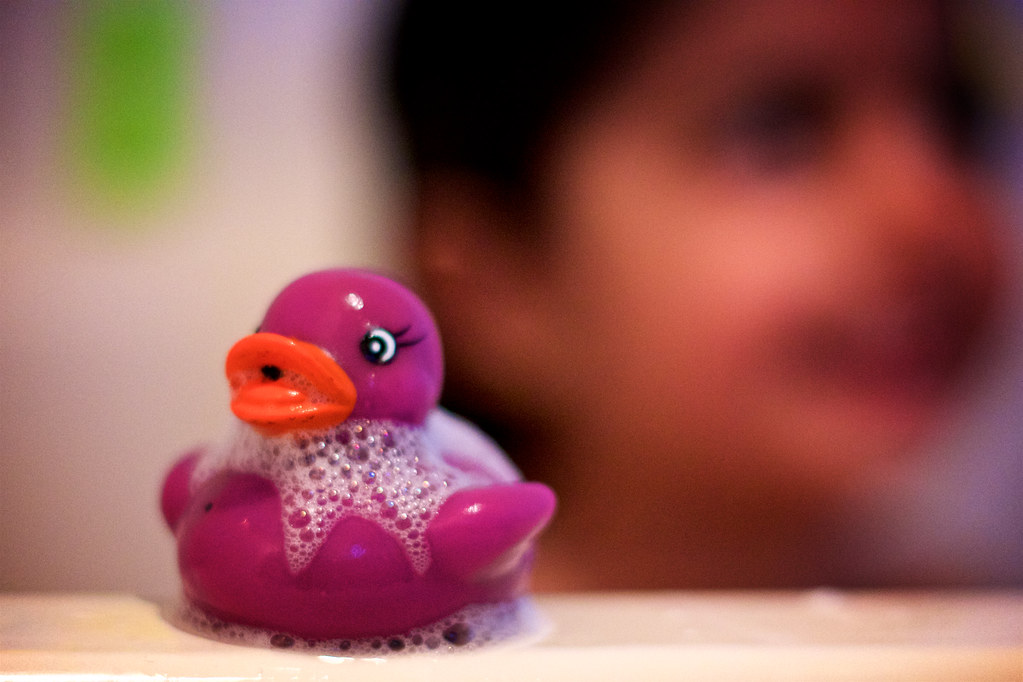 Purple rubber duck | Photo op during bath time! The purple d… | Flickr