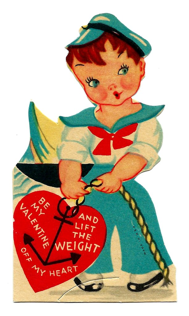 Vintage valentine day greeting card be my valentine and flickr vintage valentine day greeting card be my valentine and lift the weight off my heart m4hsunfo