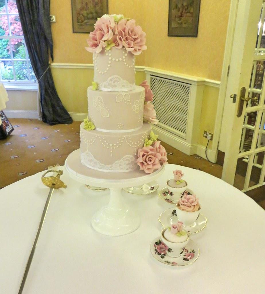 Side View Natalie & Brian Wedding Cake 2 | A Cherry On Top Scotland ...