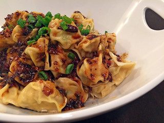 Sichuan boiled dumplings in chili oil | by mariamjaan