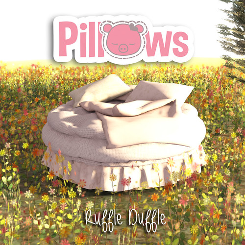 Ruffle Duffle Bed | by [P] Pillows