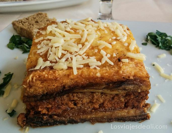 gastronomía griega moussaka