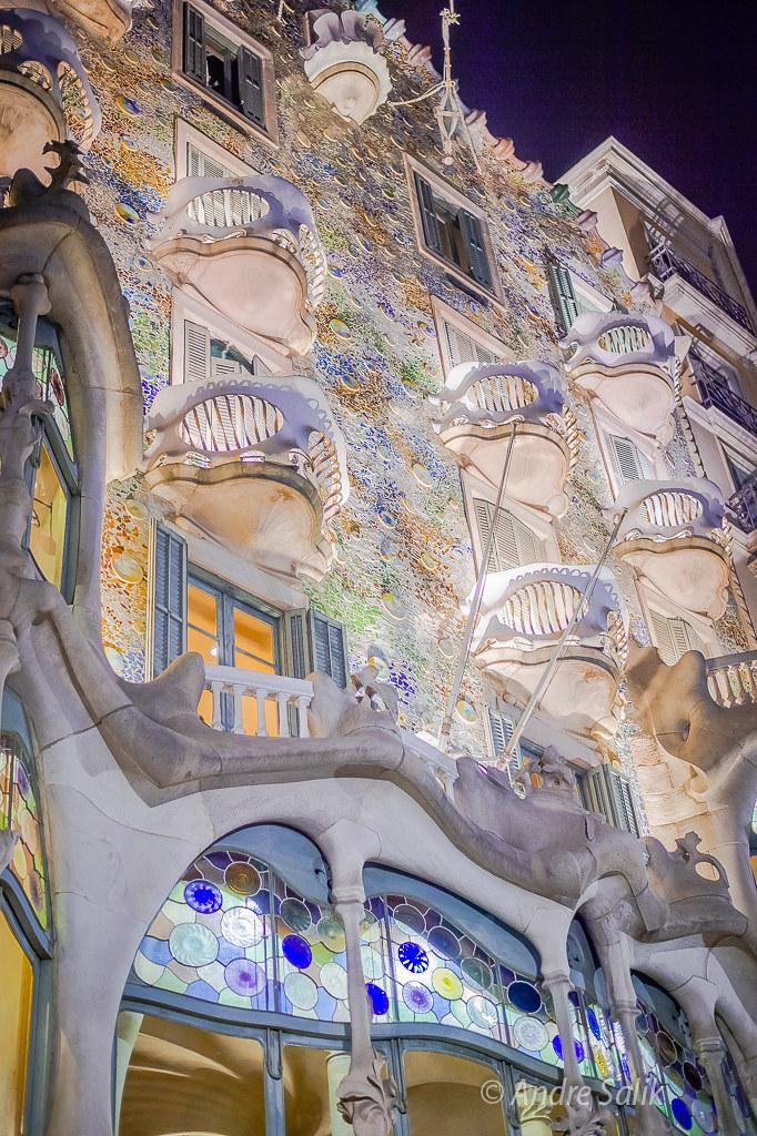 Casa Batlló Дом Бальо. Фасад