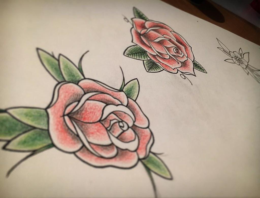 Sketch Sketchbook Tattoo Tattooapprentice Roses Ro Flickr