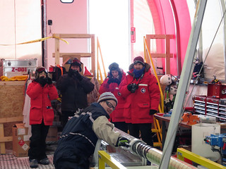 Members of the Ice Cube science team visit the SPICE Core drill site | by U.S. Ice Drilling