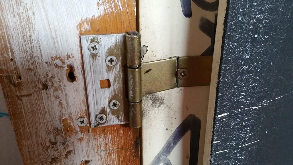 Broken Door Hinge Amp Attic Door Hinge Compact Attic Ladders