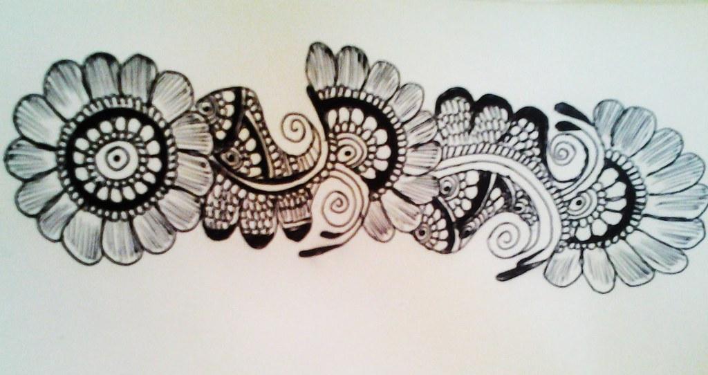 Easy Flower Henna Simple Floral Mehendi Design Cute He Flickr