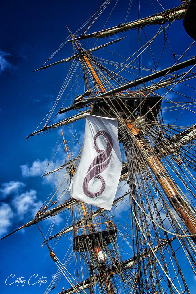 HMB Endeavour Masts